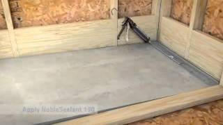 Freestyle Linear Drain Installation In A Thin Bed Waterproofing Lication 2 42