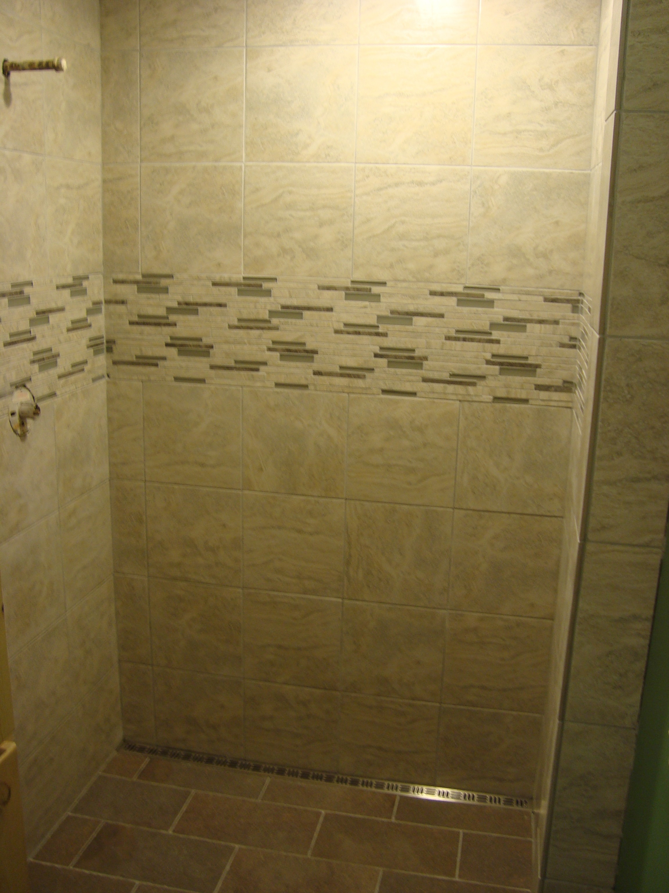 Shower With Freestyle Linear Drain Noble Company